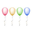red yellow green and blue balloons vector image
