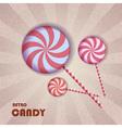 retro candy vector image vector image