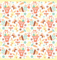 retro easter pattern vector image vector image