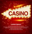 retro light arrow sign casino signage vintage vector image