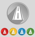 Road icon sign Symbol on five flat buttons vector image vector image