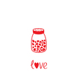 Salt shaker with hearts crystals inside Glass vector image vector image