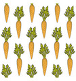 seamless pattern hand drawn carrot vector image vector image