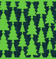 seamless pattern with fir trees on dark background vector image vector image