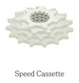 speed cassette icon isometric 3d style vector image vector image