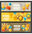 Sport or business award sticker icons banners vector image vector image