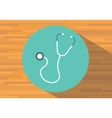 stethoscope isolated icon medical equipment vector image