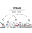 travel egypt poster in linear style vector image vector image