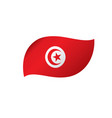 tunisia flag vector image vector image