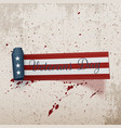 veterans day american festive curved ribbon vector image