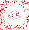 Vintage wine bar list background vector image
