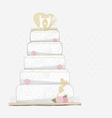 Wedding cake design vector image