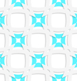 White pointy squares with blue inner part seamless vector image