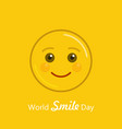 world smile day holiday banner vector image vector image