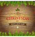 Xmas Wood Background vector image vector image