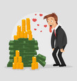 happy smiling businessman character vector image