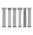 greek and roman columns set vector image