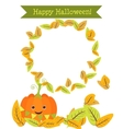 Funny pumpkin to the holiday of Halloween vector image