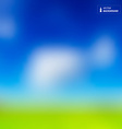 Abstract Background - Blurred Sky with Clouds and vector image vector image