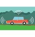 autonomous driverless car vector image vector image