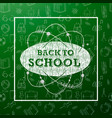 back to school banner with texture line art icons vector image
