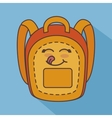 bag school character isolated icon design vector image