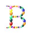 balloon alphabets lette vector image