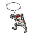 bandaged mummy-100 vector image vector image