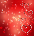beautiful heart with bokeh effect vector image vector image