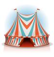 big top circus tent vector image