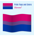 Bisexual pride flag with correct color scheme vector image vector image