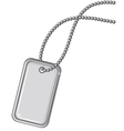 Blank metallic identification plate vector image vector image