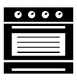 brand oven icon simple style vector image