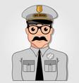 bus driver cartoon face vector image vector image