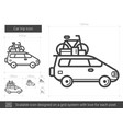 car trip line icon vector image vector image