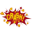 cartoon - crash vector image vector image