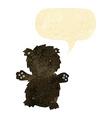 cartoon teddy bear with speech bubble vector image vector image