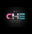 che c h e three letter logo icon design vector image