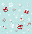christmas and new year seamless pattern background vector image