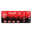 Concert ticket template concert party or festival