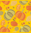 cute simple naive pumpkin seamless pattern vector image