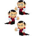 Dracula Thumbs Up vector image vector image