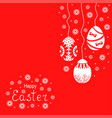 easter card with decorative eggs hang vector image