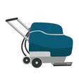 floor washing machine cartoon vector image