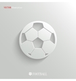 Football icon - white app button vector image vector image