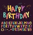fun colorful alphabet vector image