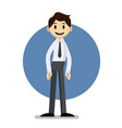 funny cartoon businessman portrait vector image