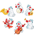 Funny Christmas Snowman for you Design vector image vector image