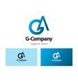 g company logo template design vector image