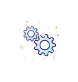 gears icon thin line flat design concept vector image